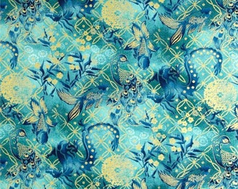 Koi fish fabric etsy for Koi fish material