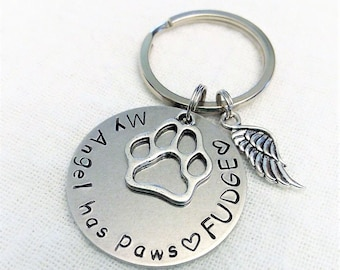 Pet Memorial Keychain,Personalized Memorial Keychain,Pet Remembrance Key Chain,Dog Remembrance Keychain,In Memory of Key Chain,Pet Memorial