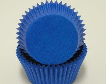 Blue - Mini Baking Cupcake Liners - 100 Count