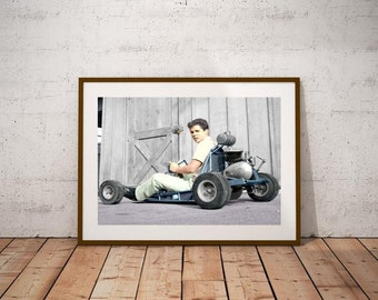 Tony Dow and his Go Kart Poster