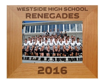 Laser Engraved Picture Frame, high school sports, football, basketball, baseball, team photo-Personalized  Picture Frame  4x6 5x7 8x10 P16