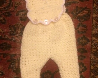 Crocheted baby outfit