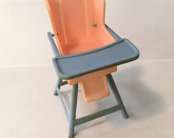 Ideal Young Decorator Highchair Vintage Dollhouse Furniture plastic