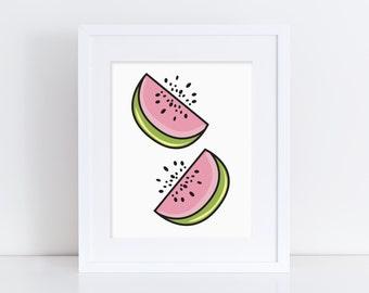 Watermelon - Contemporary Digital Print - Wall Art