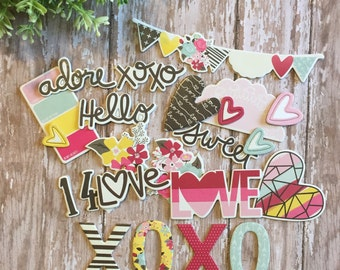 Love & Adore Chipboard Pack