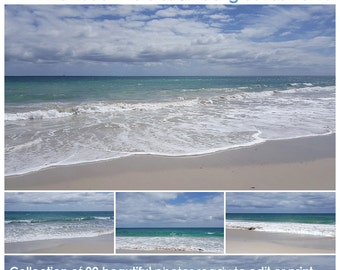 Beach Photos Vol 7, digital beach landscape photographs, beach scenery, digital background, printable photography backdrop, instant download