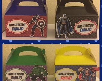 Super Hero favor boxes