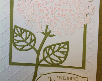 Handmade wedding card- congratulations occassion- congratulations card- male or female- blank card-Happy for you- wedding card