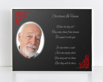 Memorial Christmas Plaque, Christmas in Heaven, Memorial Photo