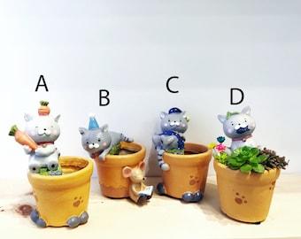 Cute little cat planter
