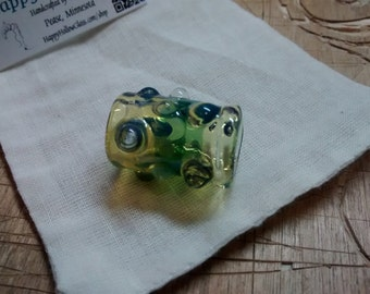 """Chunky Glass Dread Bead - 11-12mm (>1/2"""") Large Hole - Pirate Jewels - Borosilicate - Hair Jewels - Cuff - Extensions"""