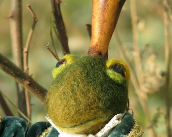 The Frog Prince Needle felted