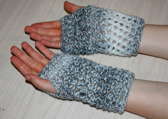 Instant Download PDF Knitting Pattern, Fingerless Gloves ...