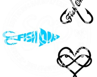 FISHING SVG & DXF Bundle Cut File Fishing Best Selling and Most Popular Die Cut Files for Cricut Silhouette Cameo Brother and More