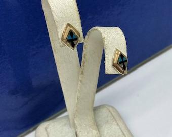 Earrings cross Silver 925 enamel SO116