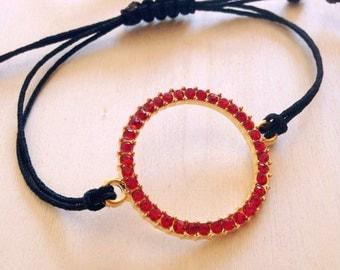 Red circle Bracelet