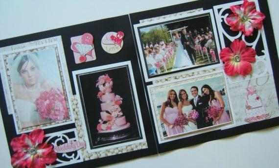 Wedding Scrapbook Pages Premade Pink Wedding Layouts