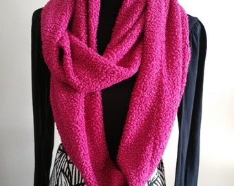 Infinity scarf/ Fuschia PINK/warm weather/accessories/gifts/for her/women/fashion/sewing/handmade/Toronto/girls/wraps/Holidays/winter