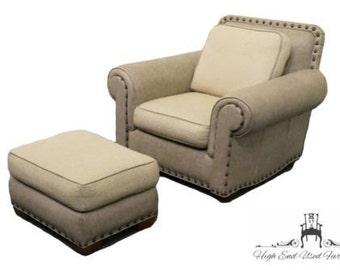 THOMASVILLE FURNITURE Leather Chair & Ottoman