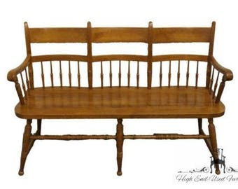 TELL CITY Young Republic Maple 52″ Deacon's Bench