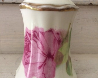 O&EG Royal Austria Hand Painted Rose Shaker