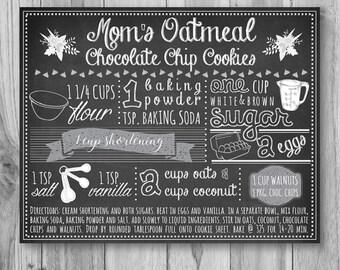 ON SALE! Recipe Art, Custom Recipe Print, Recipe Art, Recipe Print, Chalkboard Recipe Print, Chalkboard Recipe Art, Mother's Day, Christmas