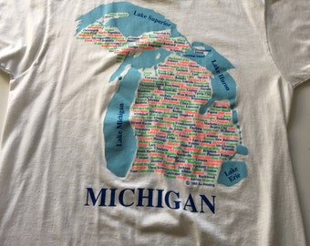 Awesome 1990 Michigan Cities T Shirt