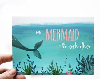 We MERMAID for each other card (1 pc)