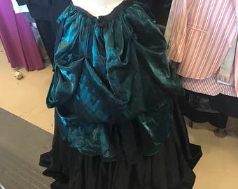 Green and Black Steampunk Skirt
