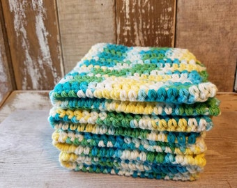 Washcloth, Dishcloth, Dishrags, 100% Cotton, Crocheted Washcloth, Crocheted Dishrag