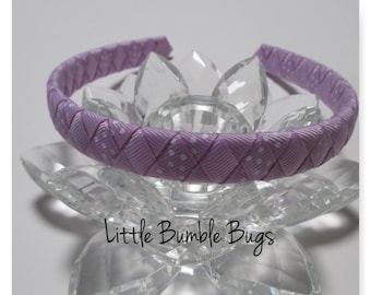 1/2 Woven Headband Everyday and School Wear - 2 Colours - Purple