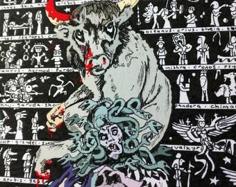 Mythology Art, Myths, Legends, gothic art, fantasy decor, contemporary work, illustration, movie art, mythological beasts