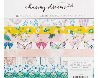"Crate Paper | Maggie Holmes | Chasing Dreams | Single-Sided Paper Pad 6""X6"""