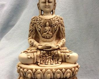 Meditating Buddha, Serenity Buddha, Calming Buddha Statue Figurine Knickknack Decor