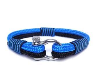 Nautical bracelet/Sailor Bracelet/Mens bracelet/knot bracelet/ Rope bracelet/paracord bracelet/Shackle Bracelet/Bracialle nautico