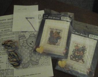 Crossstitch card kits x 2