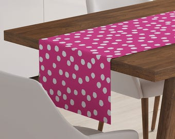 Pink Table Runner | Pink Décor | Pink Table Topper | Pink Table Linen | Pink Linen | Pink Table Décor | Pink Runner