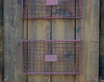 Wood plank and metal bin storage