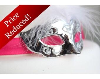 Miniature, Mini Masquerade Masks (Silver) Cake Topper, Cupcake Topper, Paris Decoration, Centerpiece Decor, overthetopcaketopper