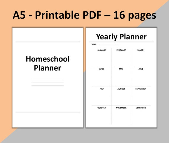 Must Read Homeschool Articles For Encouragement And: Homeschool Planner Printable School Planner Lesson Planner