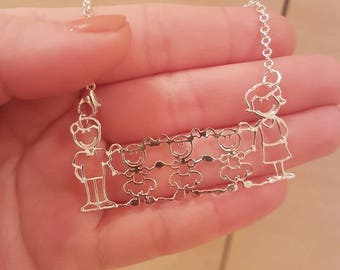3 FAMILY NECKLACE for CHILDREN