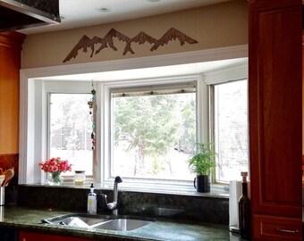 Colorado mountains, Metal wall art. Hand cut, Metal mountain wall art, Steel mountains for your wall, mountain range rusted