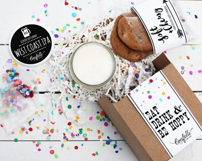 Eat Drink and Be Hoppy Gift Box | Celebration Gift | Congratulations Gift | Friend Gift | Beer Lover Gift| Boyfriend Gift | Brother Gift