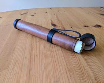 Leather Scroll Case (Vertical Hanging)