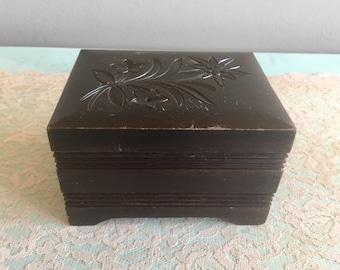 Swiss Reuge music box Carved Wood music Box Liechtensteiner Polka