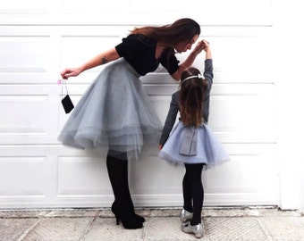 MOMMY and ME tulle skirts matched/ fully customizable/Mother Daughter Matching Skirt /Prom Dresses/ Formal Skirt
