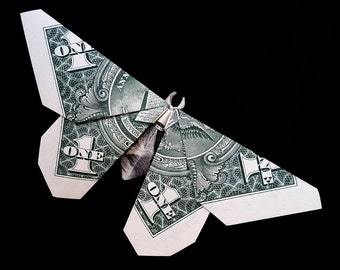 Simple BUTTERFLY Money Origami Real One Dollar Bill Art Gift
