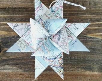 Map star ornament