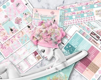 ULTIMATE Weekly Kit / Pamper & Relax / Planner Stickers /  Fits Erin Condren Vertical and MAMBI / Hand Drawn / Girly / Floral