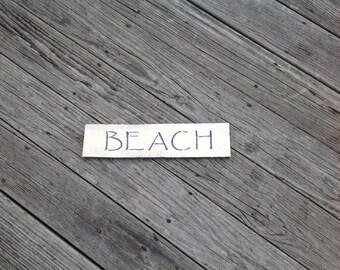 Beach Sign, Summertime, Coastal, Nautical, Shells,